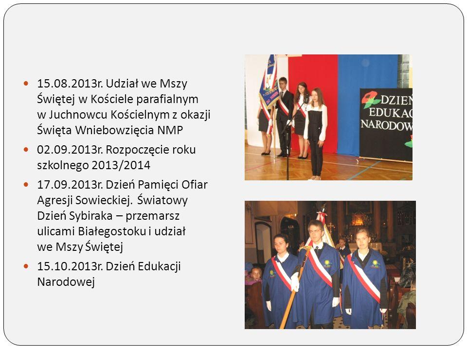 19.10.2013r.Wyjazd do Warszawy ucz. kl. III gim.