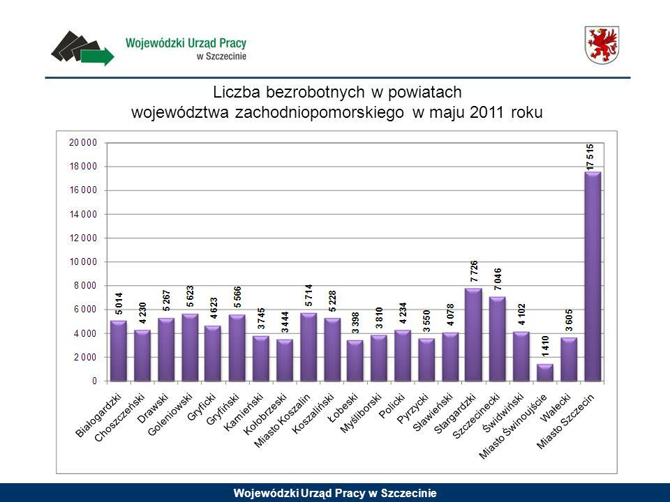 Wojewódzki Urząd Pracy w Szczecinie Liczba bezrobotnych w powiatach województwa zachodniopomorskiego w maju 2011 roku