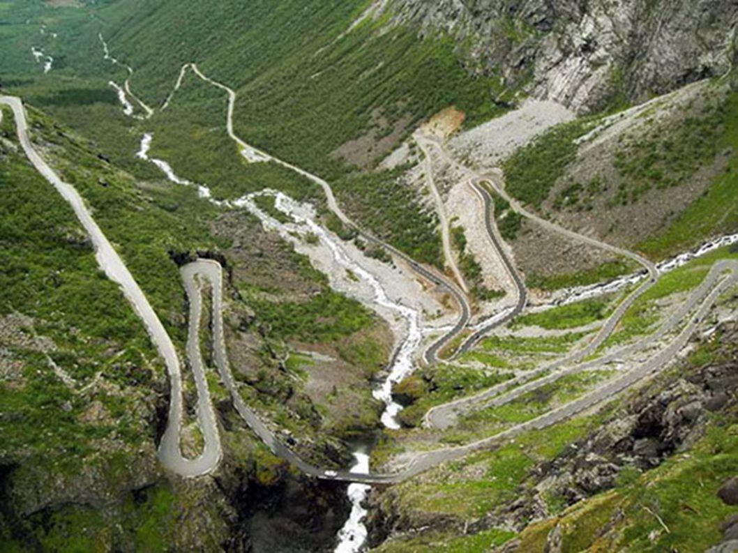 9.Trollstigen – Norwegia Po raz kolejny to państwo. Jednak po spojrzeniu na zdjęcia już wiecie, dlaczego jest w tym ekskluzywnym top 15. Leży na strom