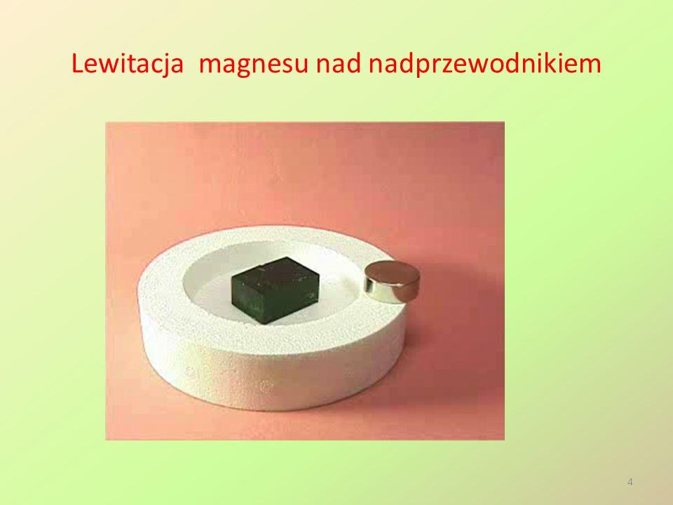 Lewitacja magnesu nad nadprzewodnikiem 4