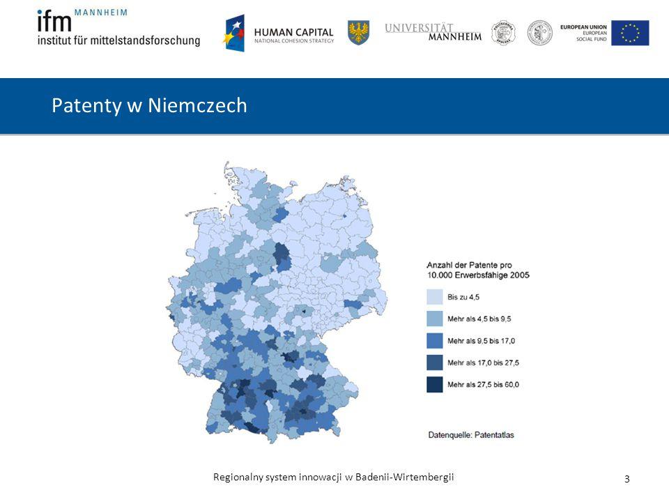 Regionalny system innowacji w Badenii-Wirtembergii Patenty w Niemczech 3