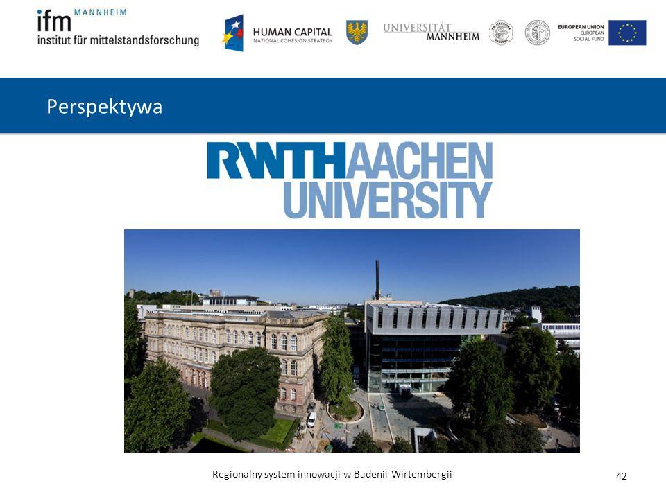 Regionalny system innowacji w Badenii-Wirtembergii Perspektywa 42