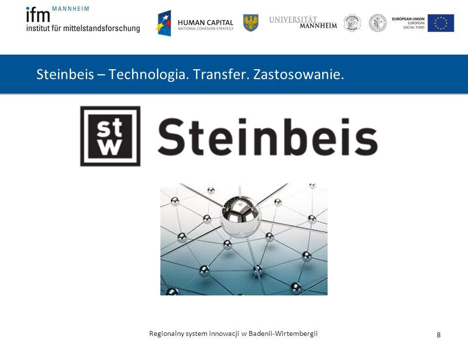Regionalny system innowacji w Badenii-Wirtembergii Steinbeis – Technologia. Transfer. Zastosowanie. 8