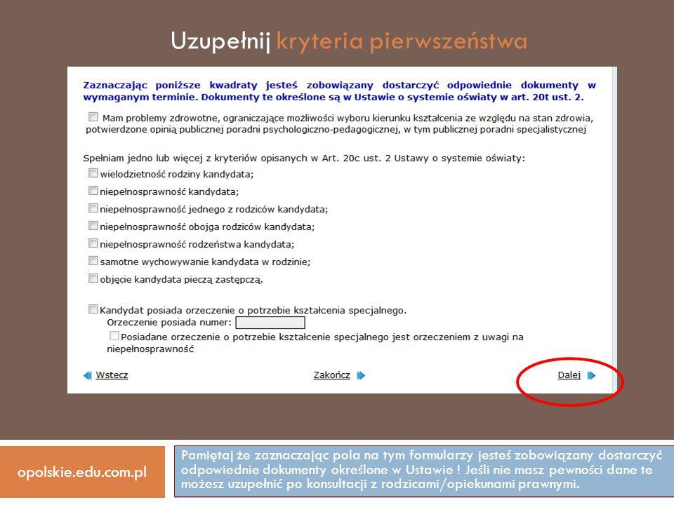 opolskie.edu.com.pl W razie problemów lub wątpliwości prosimy o kontakt ZESPÓŁ SZKÓŁ OGÓLNOKSZTAŁCĄCYCH UL.