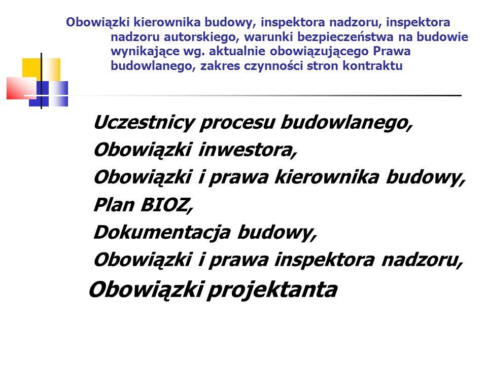 Nieistotne odstępstwa od projektu budowlanego Podstawowy katalog odstępstw, Procedura kwalifikacji,