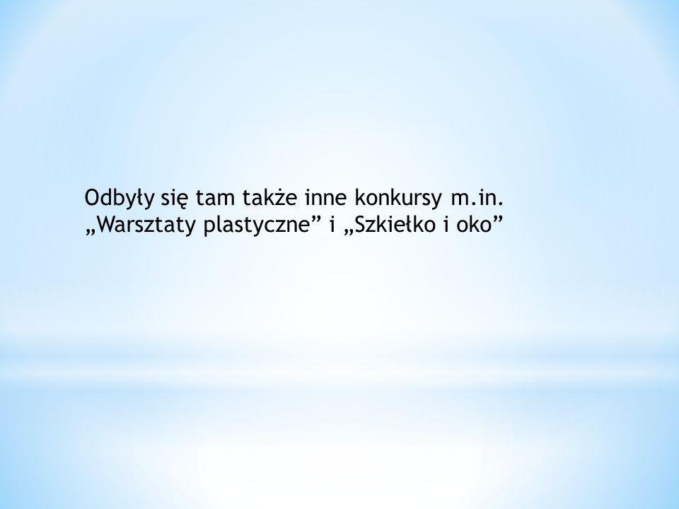 """Odbyły się tam także inne konkursy m.in. """"Warsztaty plastyczne i """"Szkiełko i oko"""