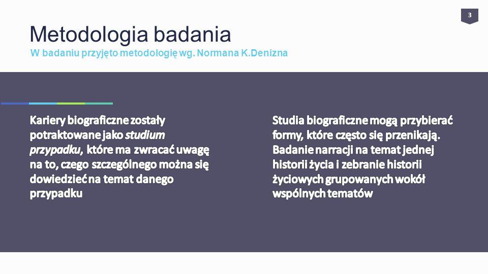 W badaniu przyjęto metodologię wg. Normana K.Denizna Metodologia badania 3