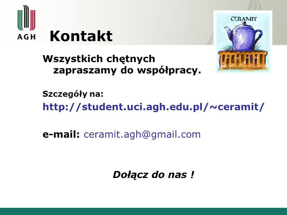 Kontakt Wszystkich chętnych zapraszamy do współpracy.