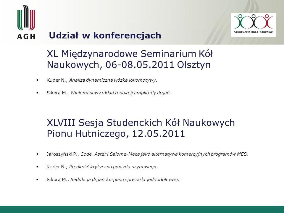 Kontakt Strona www http://www.decybel.agh.edu.pl Opiekun Koła dr hab.