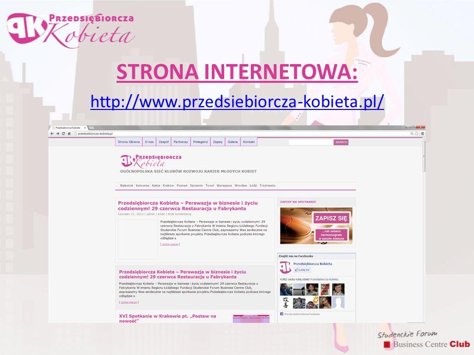STRONA INTERNETOWA: http://www.przedsiebiorcza-kobieta.pl/