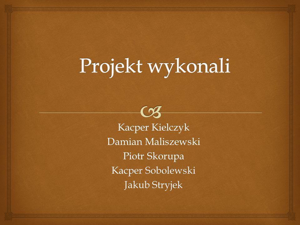 Kacper Kielczyk Damian Maliszewski Piotr Skorupa Kacper Sobolewski Jakub Stryjek