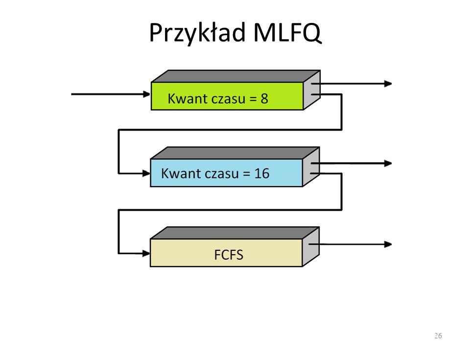 Przykład MLFQ 26