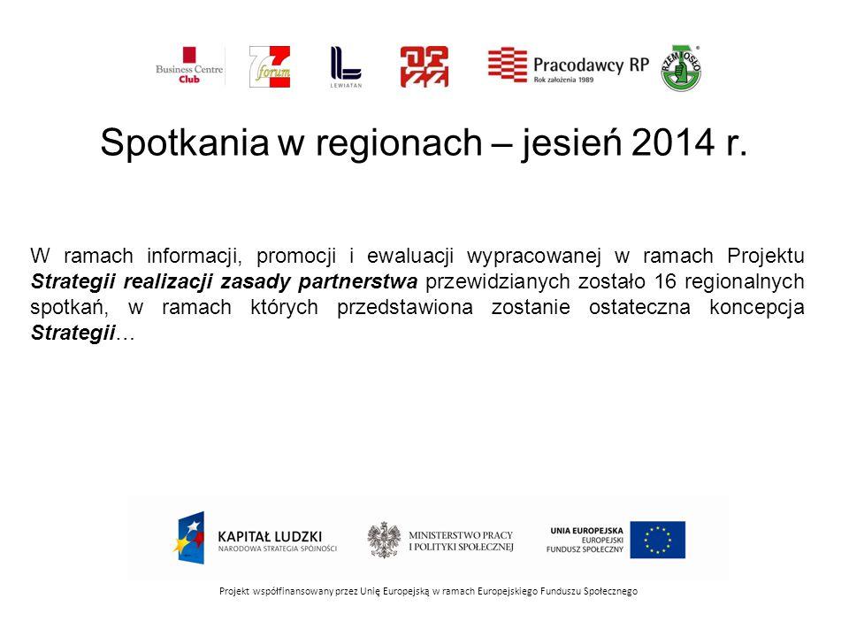 Projekt współfinansowany przez Unię Europejską w ramach Europejskiego Funduszu Społecznego W ramach informacji, promocji i ewaluacji wypracowanej w ra