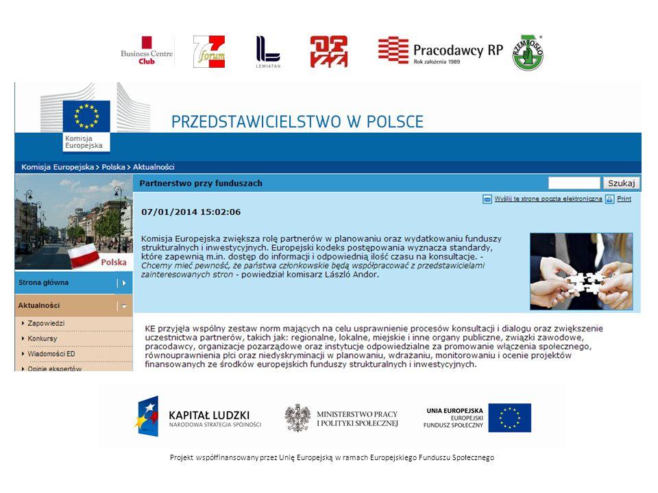 Kodeks postępowania, który przyjmuje formę prawnie wiążącego rozporządzenia Komisji, wymienia cele i kryteria mające zagwarantować, że państwa członkowskie wdrożą zasadę partnerstwa.