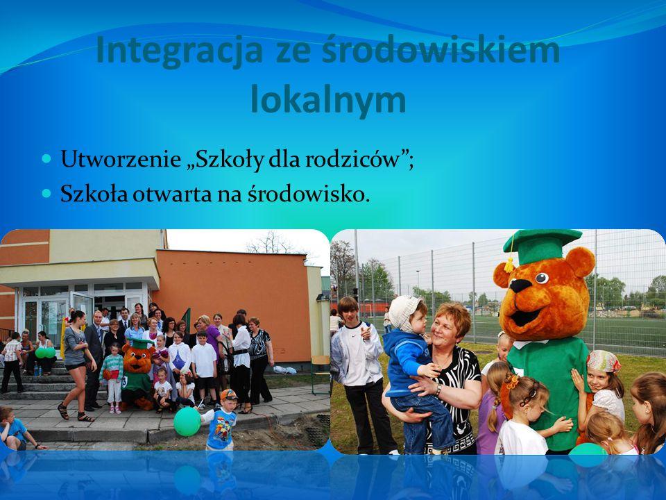 """Utworzenie """"Szkoły dla rodziców""""; Szkoła otwarta na środowisko."""