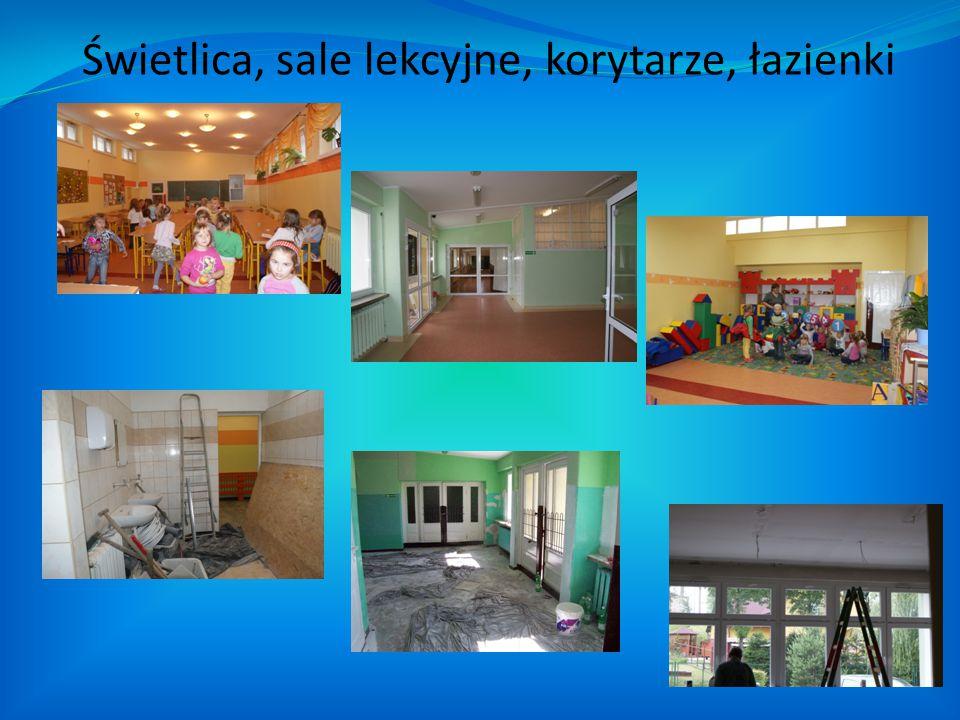 Świetlica, sale lekcyjne, korytarze, łazienki