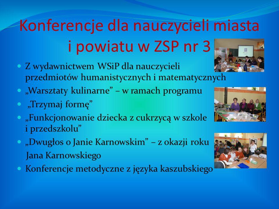 """Konferencje dla nauczycieli miasta i powiatu w ZSP nr 3 Z wydawnictwem WSiP dla nauczycieli przedmiotów humanistycznych i matematycznych """"Warsztaty ku"""