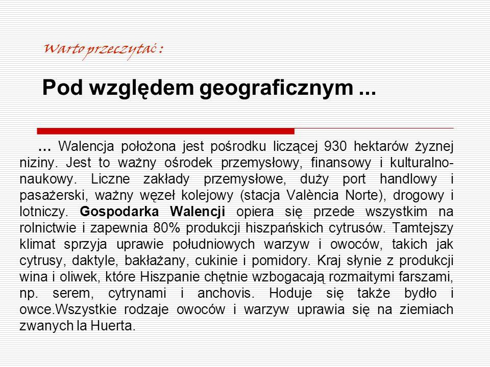 Program przygotowania kulturowego realizowany w Polsce obejmował: Informacje ogólne o regionie Walencji – położenie geograficzne, ludność, historia, główne dziedziny gospodarki ze szczególnym uwzględnieniem specyfiki regionu: produkcja win, rybołówstwo, przemysł hotelarski.