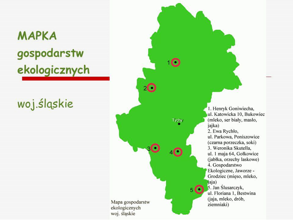 MAPKA gospodarstw ekologicznych woj.śląskie