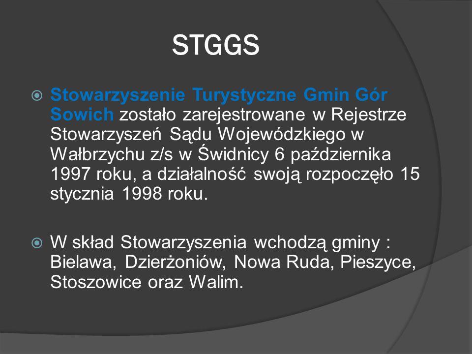 STGGS  Stowarzyszenie Turystyczne Gmin Gór Sowich zostało zarejestrowane w Rejestrze Stowarzyszeń Sądu Wojewódzkiego w Wałbrzychu z/s w Świdnicy 6 pa
