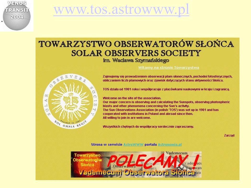 Venus Transit 2004 Polish part of international educational project http://www.astro.uni.wroc.pl/vt-2004.html