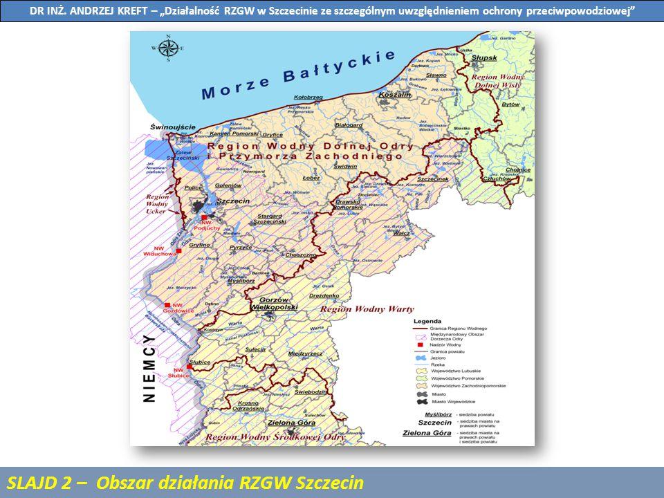 SLAJD 3 – Aktualny stan zabudowy regulacyjnej rzeki Odry na odcinku granicznym z Niemcami (Odcinek 1) DR INŻ.