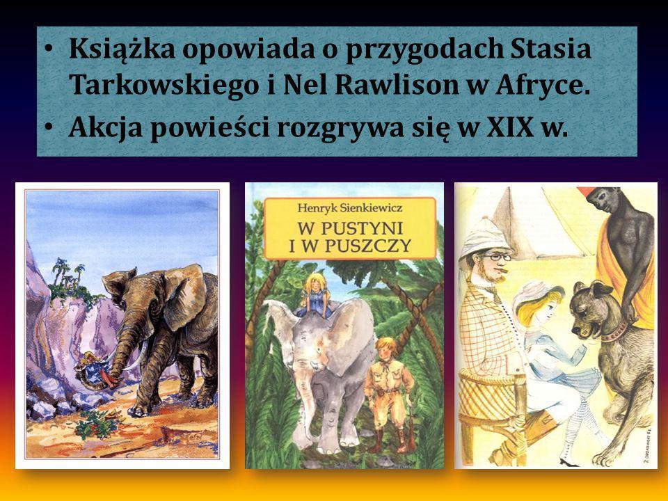 Książka opowiada o przygodach Stasia Tarkowskiego i Nel Rawlison w Afryce. Akcja powieści rozgrywa się w XIX w. Książka opowiada o przygodach Stasia T