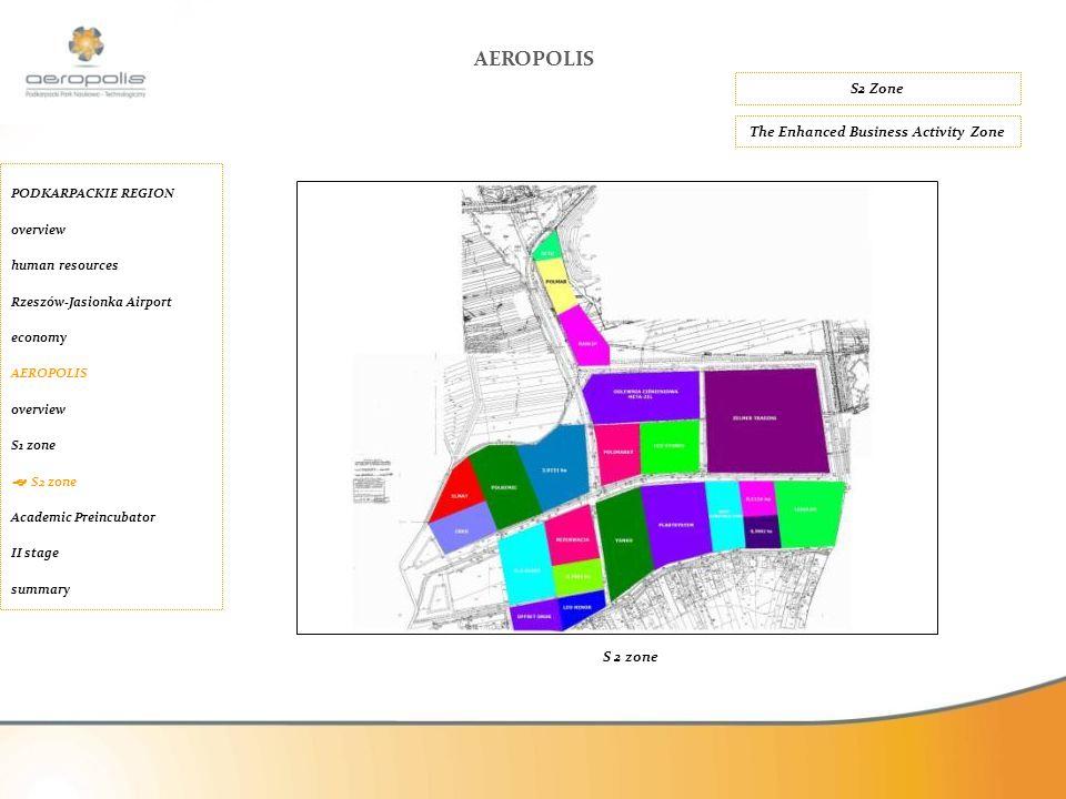 S2 Zone AEROPOLIS The Enhanced Business Activity Zone PODKARPACKIE REGION overview human resources Rzeszów-Jasionka Airport economy AEROPOLIS overview