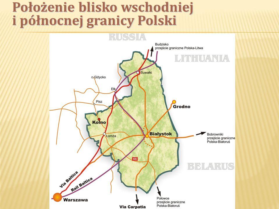 Teren inwestycyjny położony jest w pobliżu granic trzech województw Polski: warmińsko-mazurskiego, podlaskiego i mazowieckiego.