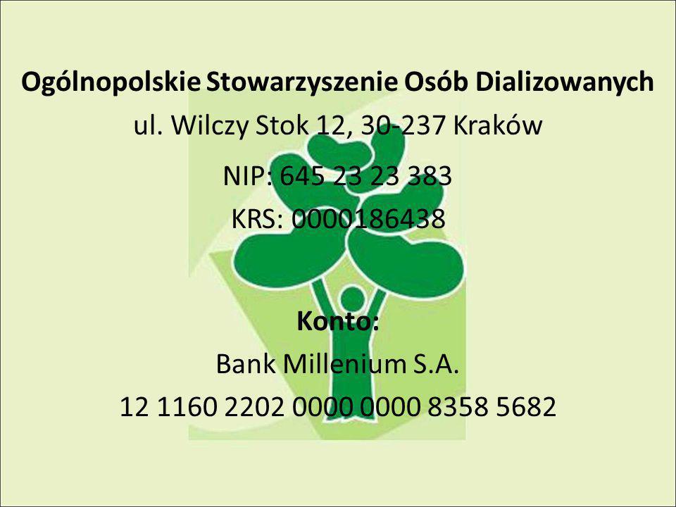 Ogólnopolskie Stowarzyszenie Osób Dializowanych ul.