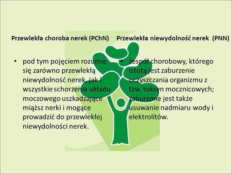 Przewlekła choroba nerek (PChN) pod tym pojęciem rozumie się zarówno przewlekłą niewydolność nerek, jak i wszystkie schorzenia układu moczowego uszkadzające miąższ nerki i mogące prowadzić do przewlekłej niewydolności nerek.