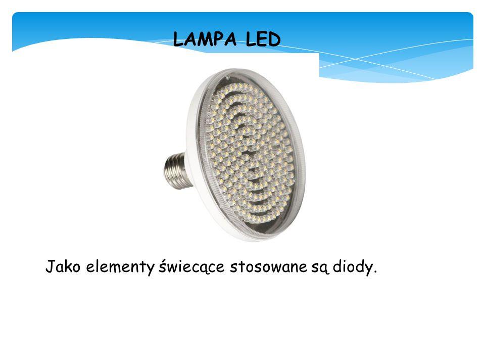 LAMPA LED Jako elementy świecące stosowane są diody.