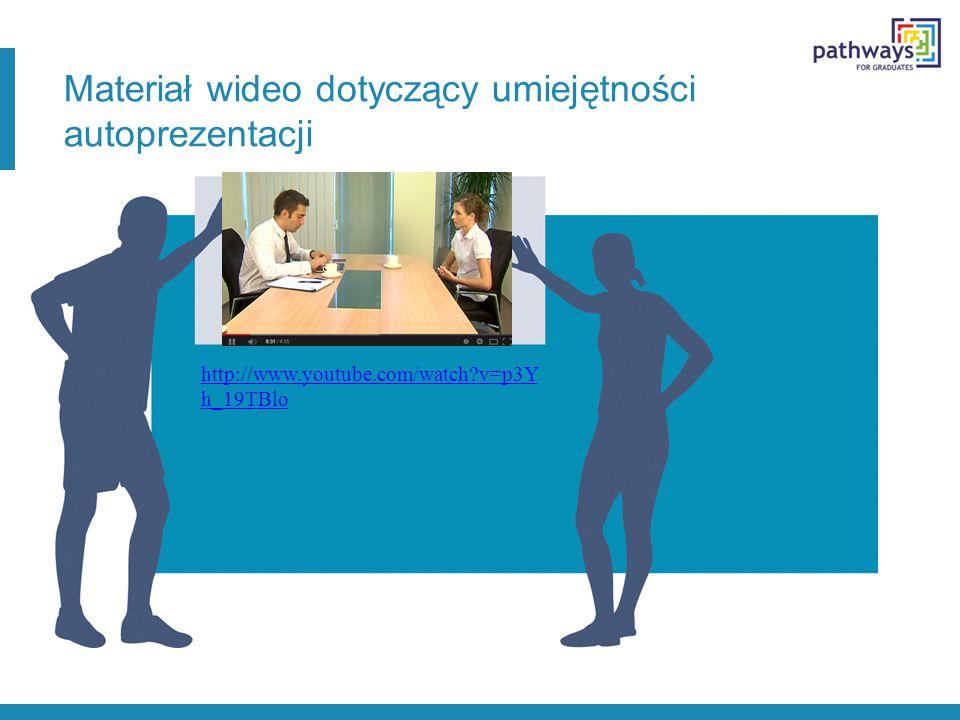 Materiał wideo dotyczący umiejętności autoprezentacji http://www.youtube.com/watch v=p3Y h_19TBlo