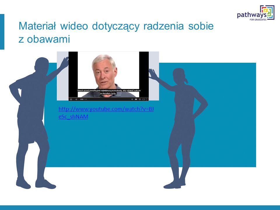 Materiał wideo dotyczący radzenia sobie z obawami http://www.youtube.com/watch v=BJ eSc_shNAM