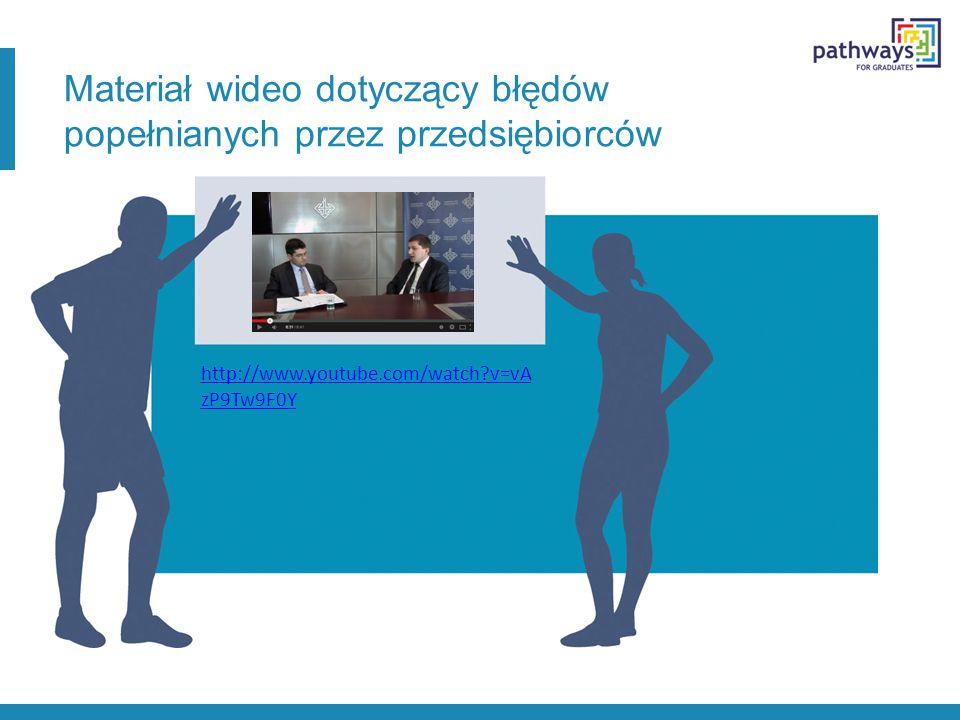 http://www.youtube.com/watch v=vA zP9Tw9F0Y Materiał wideo dotyczący błędów popełnianych przez przedsiębiorców