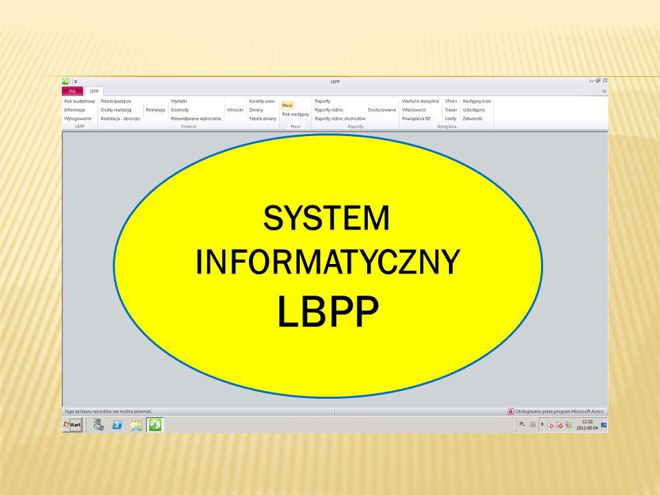 SYSTEM INFORMATYCZNY LBPP