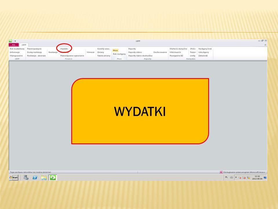 Na zakładce Dysponent III do Dysponent IV w WYDATKI pobrany z Płac przekaz jest już widoczny w podziale na pododdziały, z dodatkowym oznakowaniem.