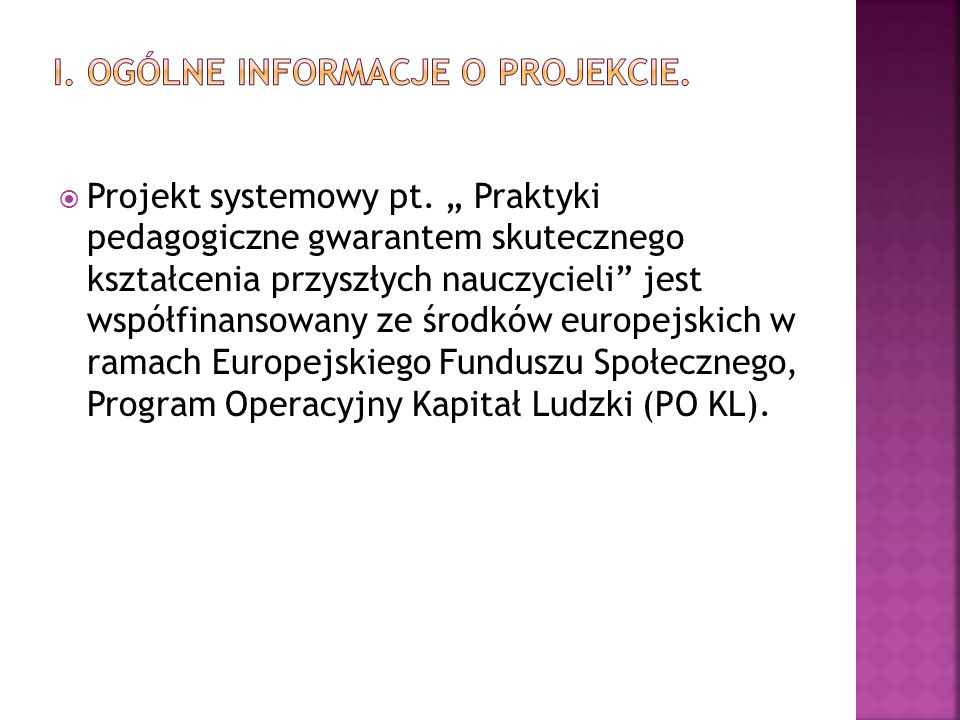  Projekt systemowy pt.