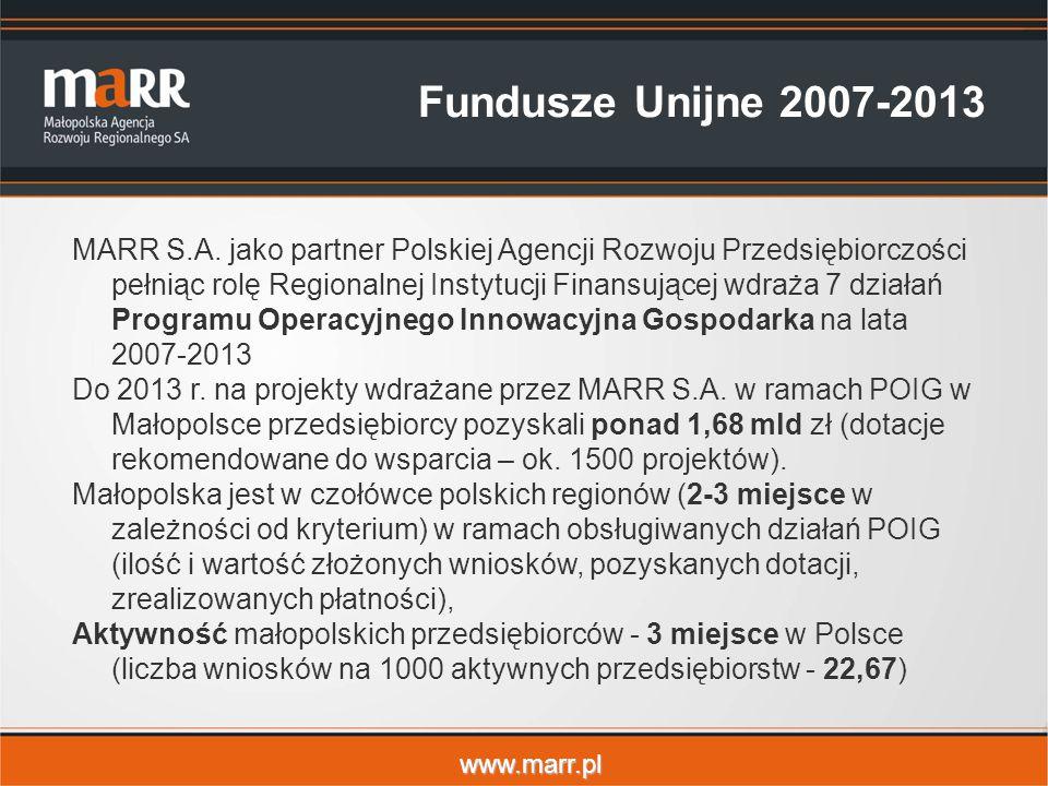 www.marr.pl Fundusze Unijne 2007-2013 MARR S.A.