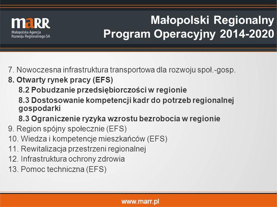 www.marr.pl 7.Nowoczesna infrastruktura transportowa dla rozwoju społ.-gosp.