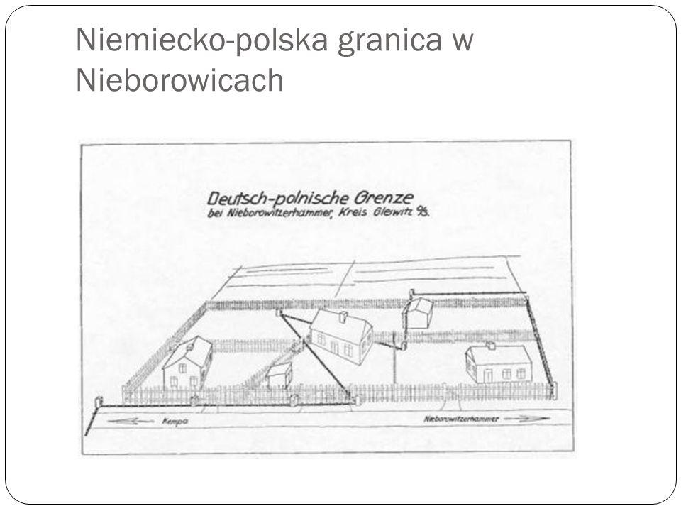 Niemiecko-polska granica w Nieborowicach