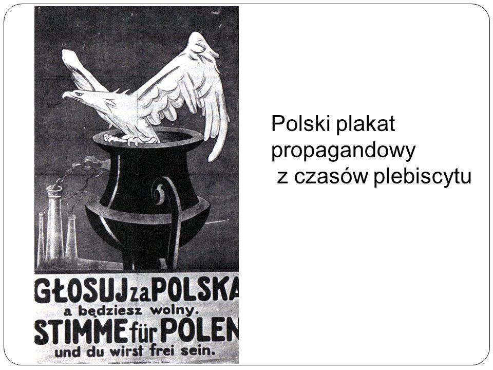 Polski plakat propagandowy z czasów plebiscytu
