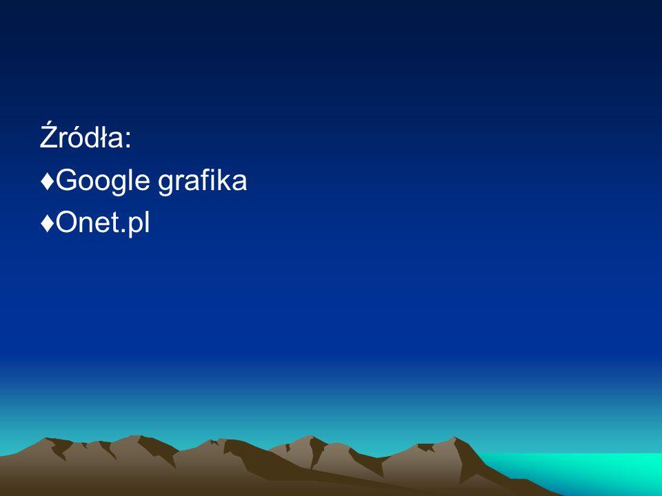 Źródła: ♦Google grafika ♦Onet.pl