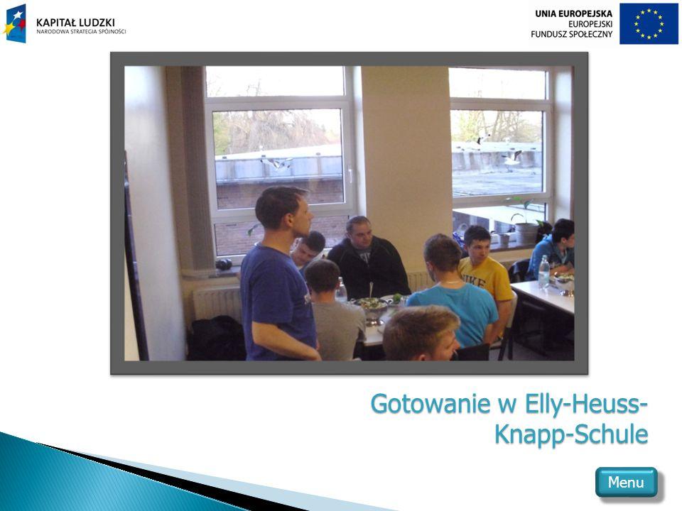Gotowanie w Elly-Heuss- Knapp-Schule Menu
