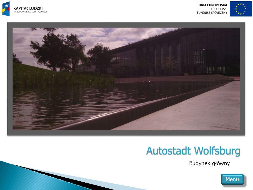 Autostadt Wolfsburg Budynek główny Menu