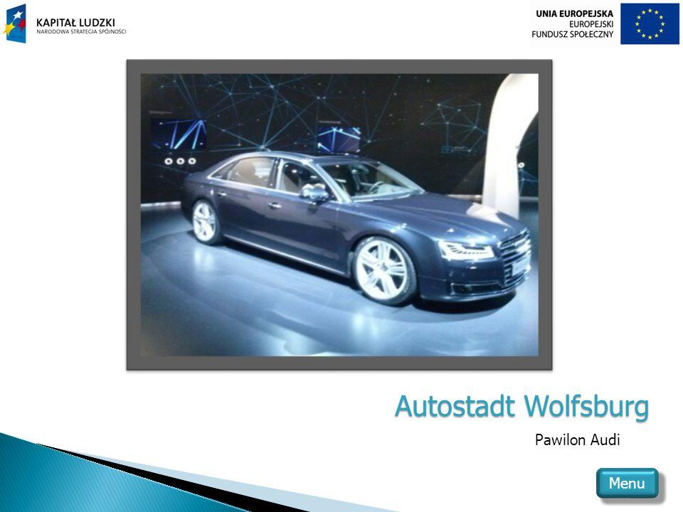Autostadt Wolfsburg Pawilon Audi Menu