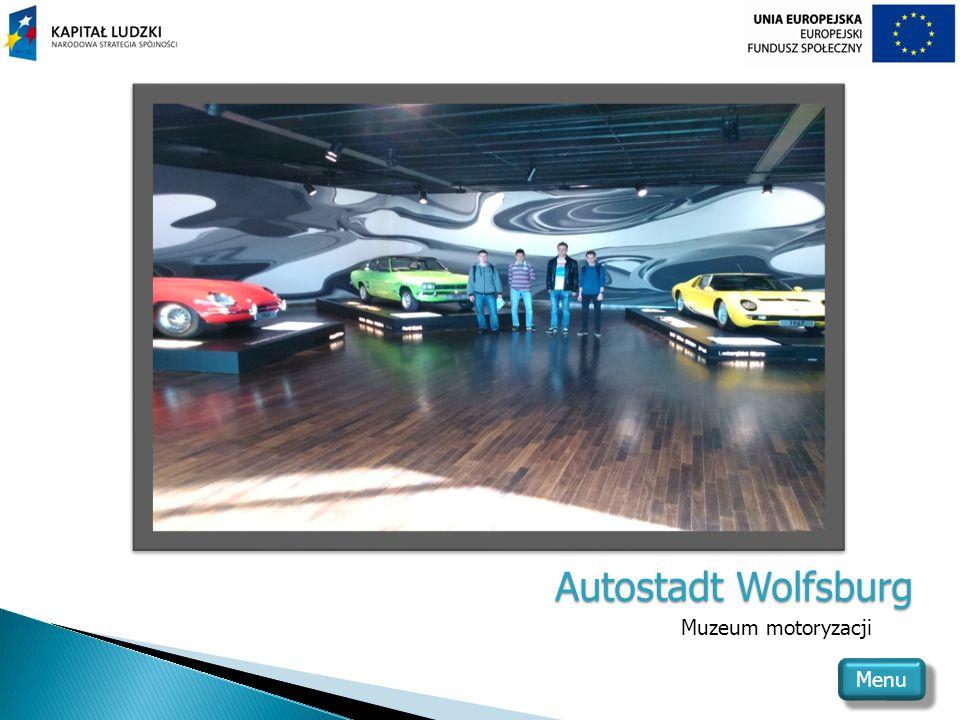 Autostadt Wolfsburg Muzeum motoryzacji Menu