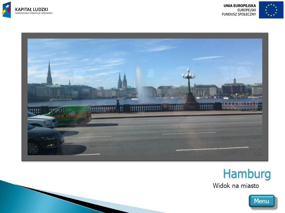 Hamburg Widok na miasto Menu
