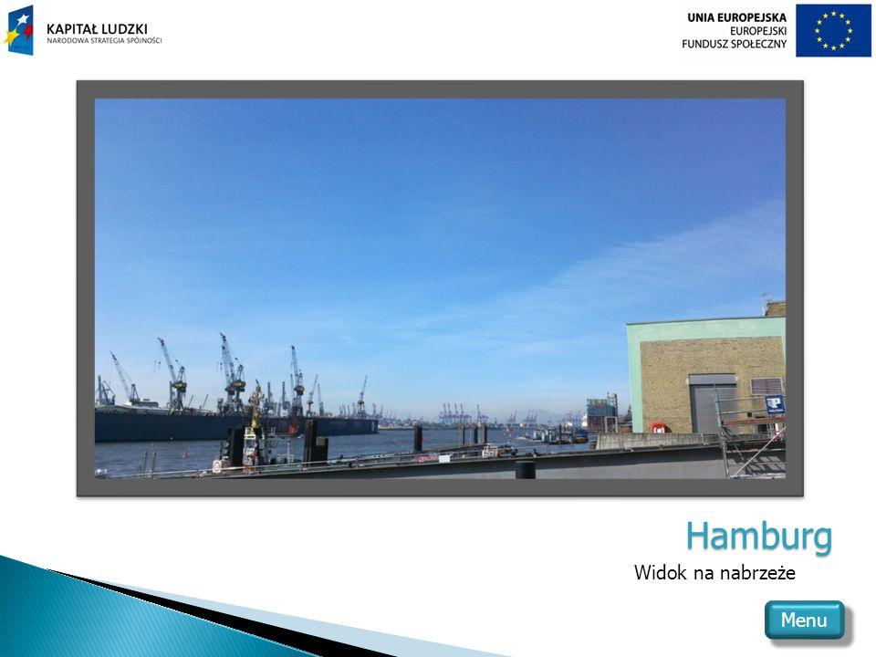 Hamburg Widok na nabrzeże Menu
