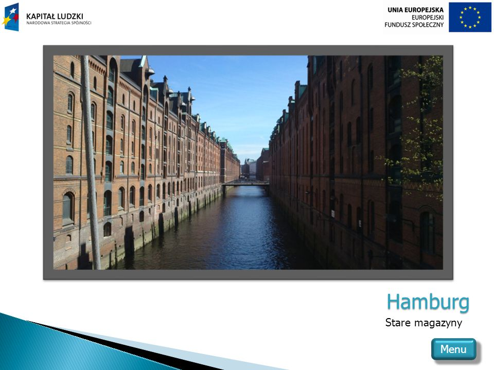 Hamburg Stare magazyny Menu